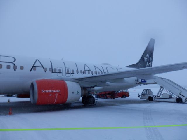 トロムソ到著時。吹雪です! - スカンジナビア(SAS)航空 搭乗寫真・畫像 | FlyTeam(フライチーム)