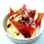 DessertQuickie: Birne Wassermelone Lemonanisblüte