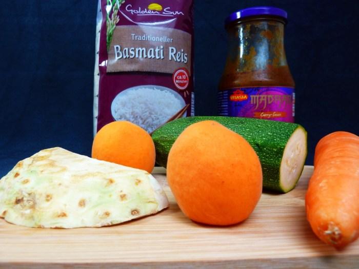 Zutaten Indisches Curry-Gemüse