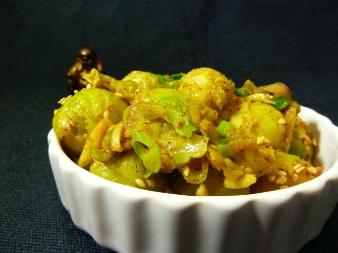 Rosenkohl Curry Sesam 1
