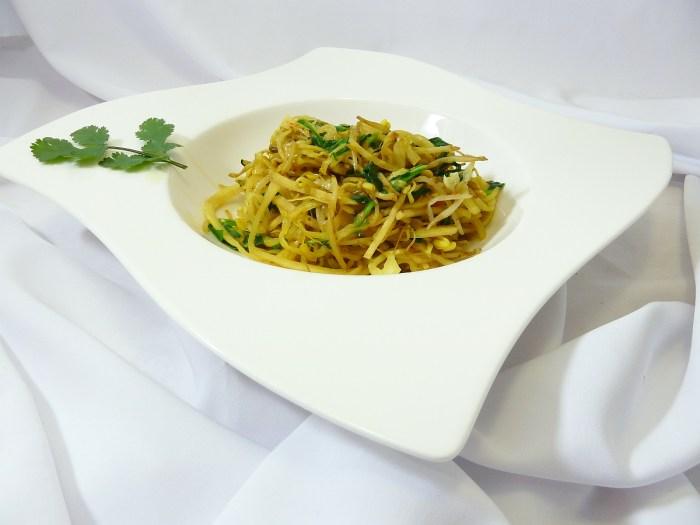Bärlauch Spaghetti ist Ansichtssache: Hier in der surrealen Version