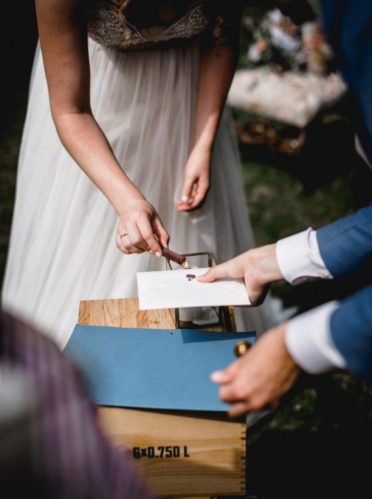 Hochzeitsritual freie Trauung Versiegelung