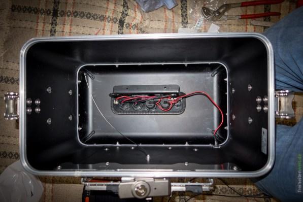Einbau in Koffer