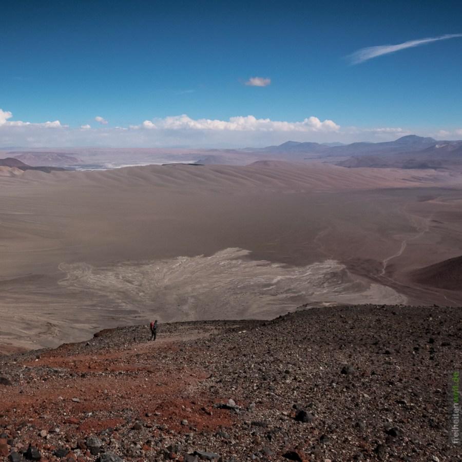 Abstieg vom Vulkan Lascar