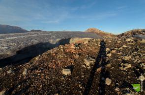 Eis im Krater