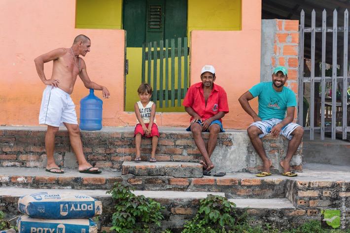 Nette Menschen im Dorf