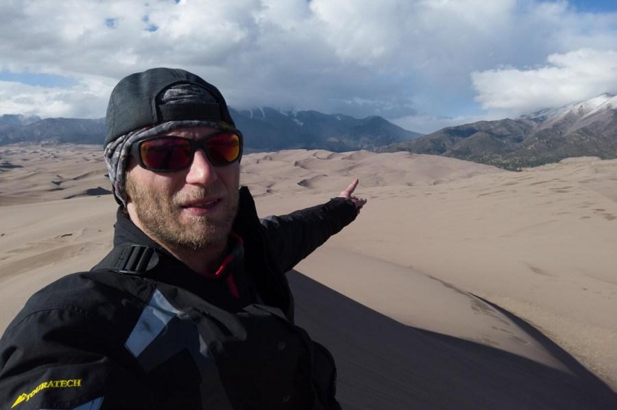Selfie Dünen Colorado - Vorher