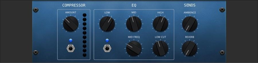 Panel für Kompressor und EQ in Garage Band