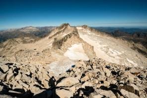 Blick über Gletscher des Aneto