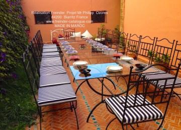 Fer Forge Jardin Decoration Beautiful Salon De Jardin Marocain