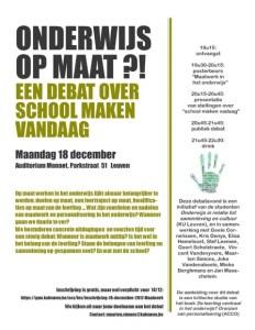Onderwijs op maat ?!  Een debat over school maken vandaag @ KU Leuven | Leuven | België