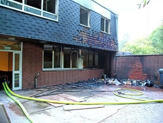 Feuer am Bürgerhaus Oststadt
