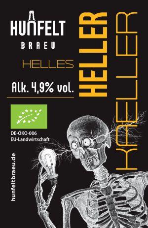 HUNFELT BRAEU HELLER KAELLER 330 ml, 4,9% Vol.