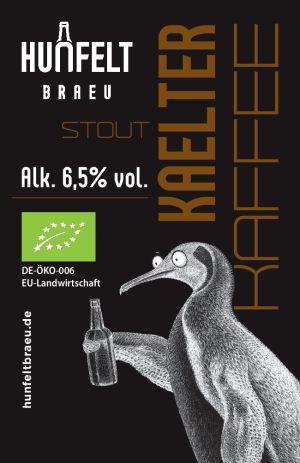 HUNFELT BRAU KAELTER-KAFFEE 330 ml, 6,5% vol.