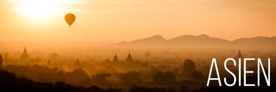 Balloons over Bagan in Myanmar - Asien