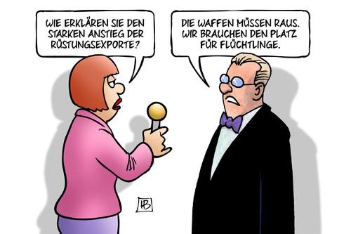 Waffenexporte und Flüchtlinge