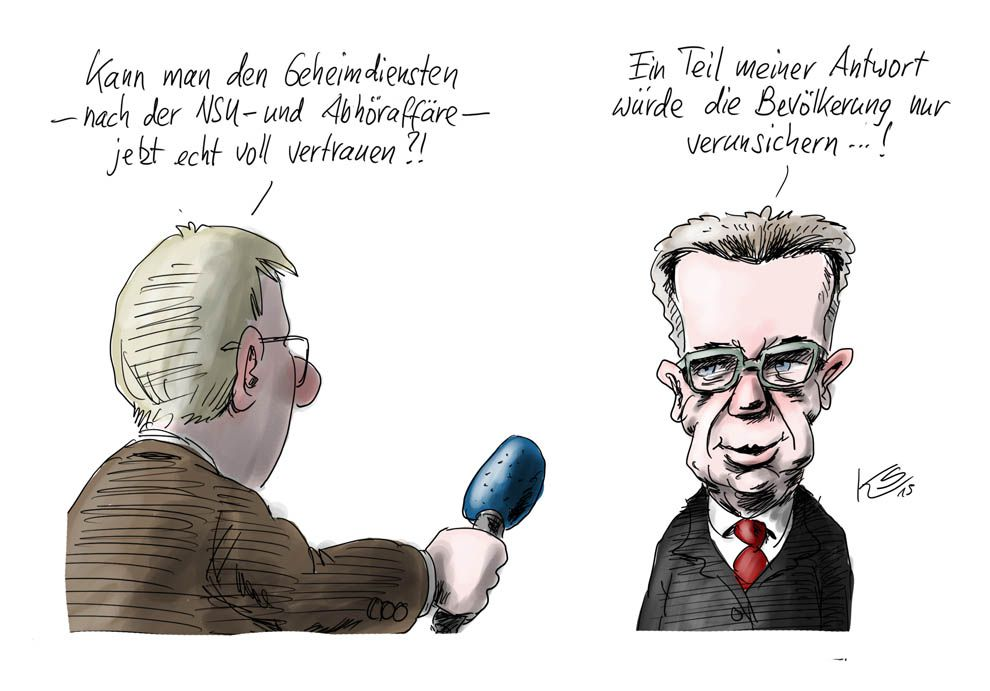 Innenminister de Maizière: Ein Teil meiner Antwort würde die Bevölkerung nur verunsichern!