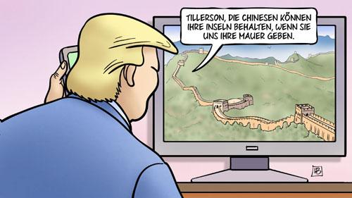 Trump, China, Mexiko und die Mauer