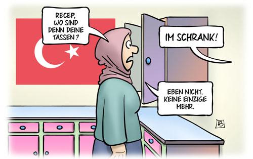 Erdogan hat alle Tassen im Schrank