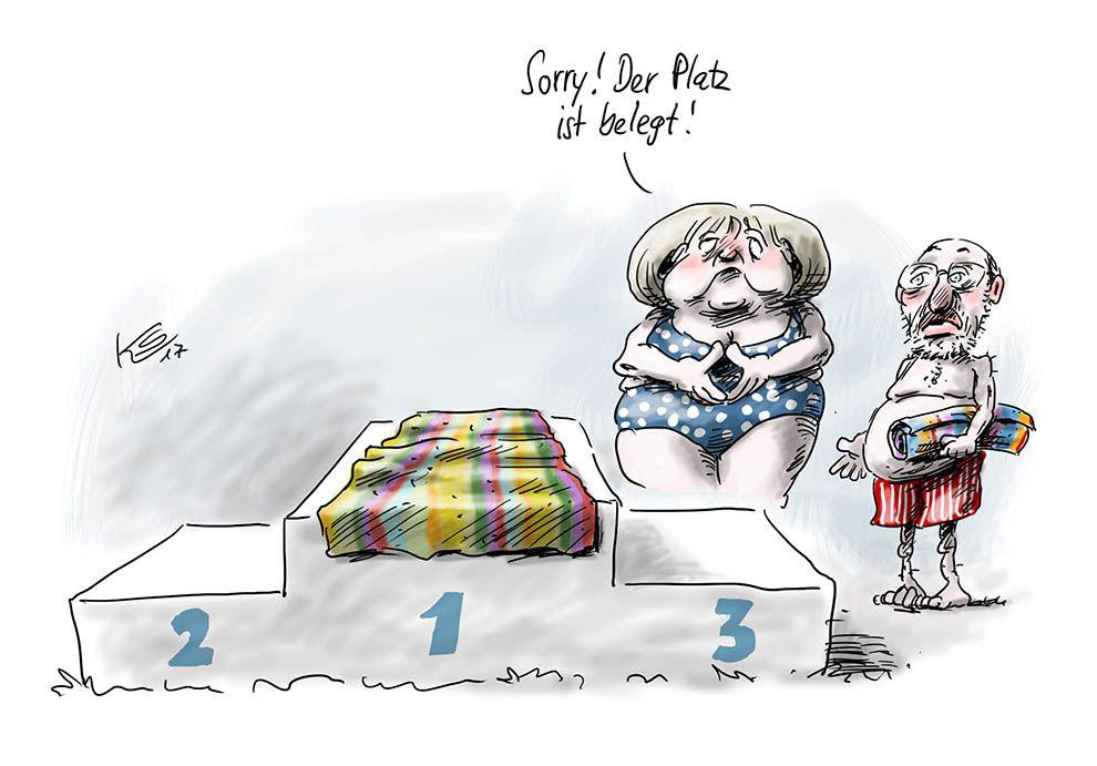 Bundeskanzlerin Merkel wie in den Ferien