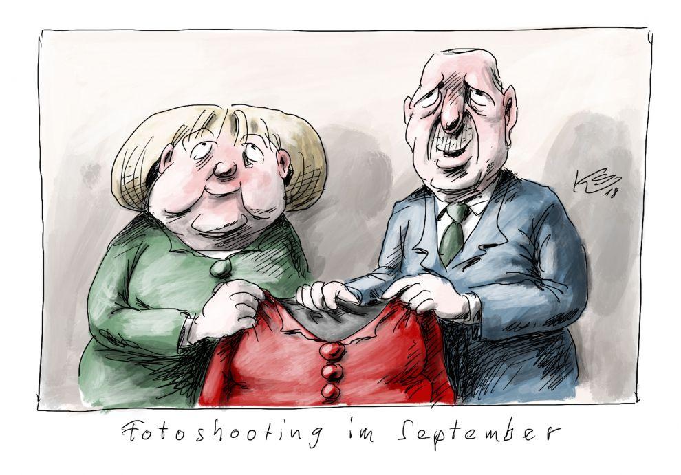 Fotoshooting mit Merkel und Erdogan