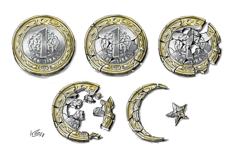 Verfall der türkischen Lira