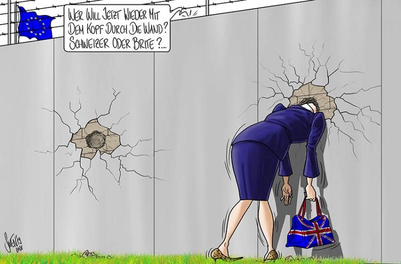 Die Wand der EU