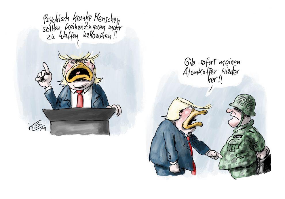 Psychisch kranke Menschen, Donald Trump und Waffen