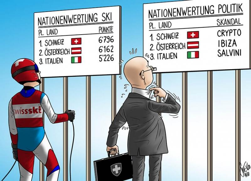 Nationenwertung: Die Schweiz ist vorne dabei mit Swiss-Ski & Crypto AG