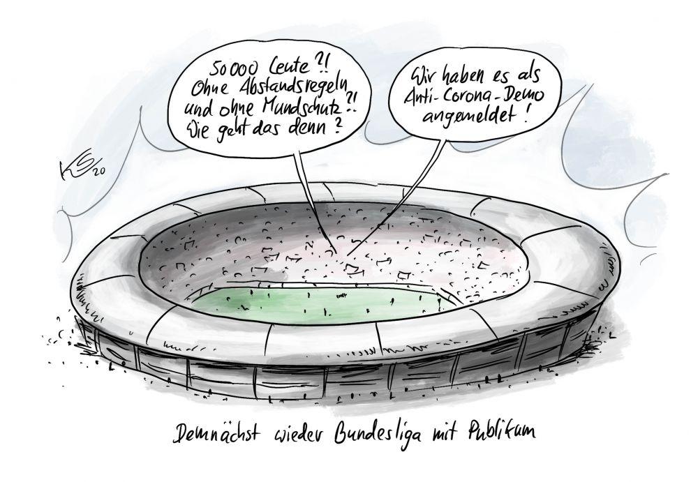 Bald wieder Bundesliga - Mit Zuschauer