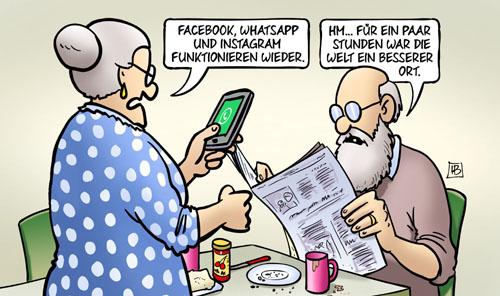 Ausfall von Facebook, Instagram, WhatsApp
