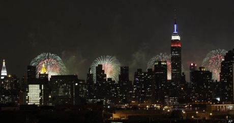 The fourth of July 2014 in NYC duri
