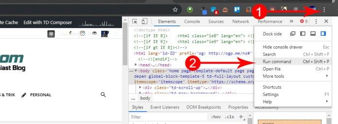 Cara Screenshot di Google Chrome