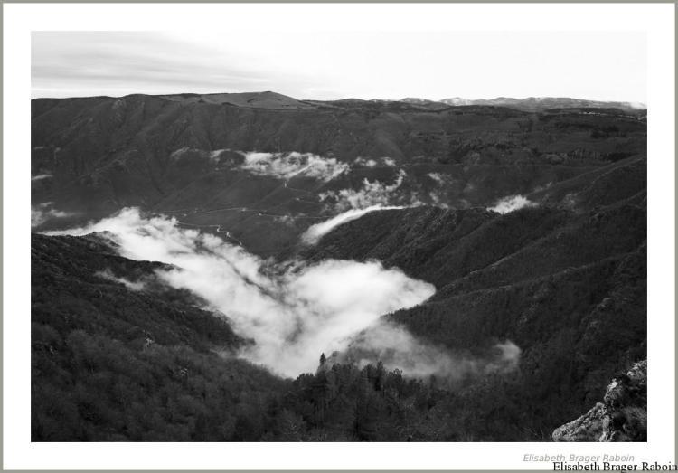 Route qui mène au Mont Aigoual