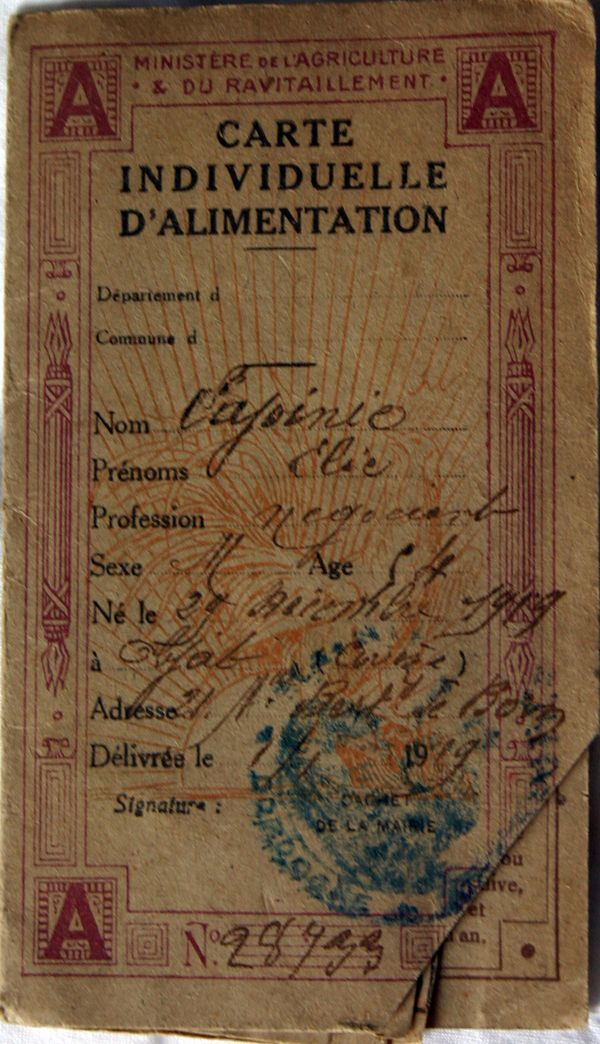 A French Familys Ration Cards and What They Reveal About