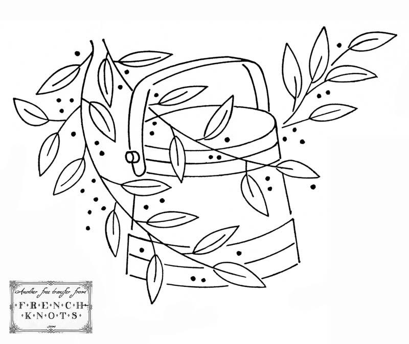 Flower Basket Embroidery Patterns