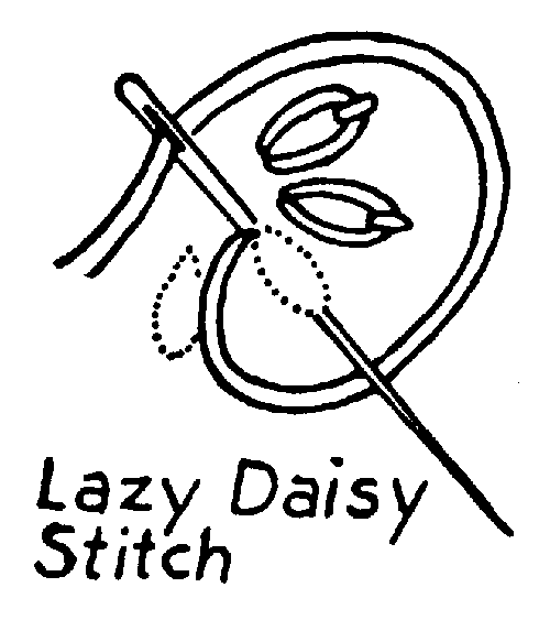 Lazy Daisy Embroidery Stitch How-To