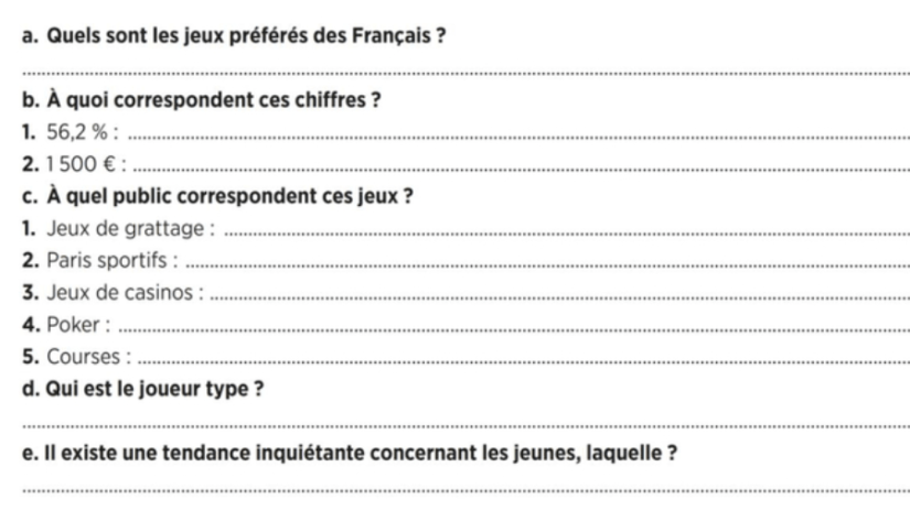 French questions answers