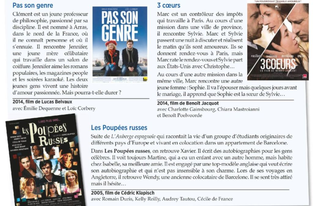 Which French movie to watch