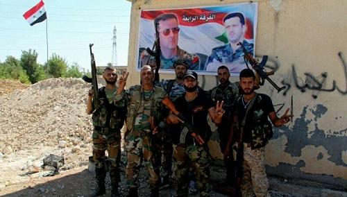 L'armée syrienne à Maskanah
