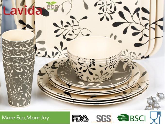 biens en bambou reutilisables de vaisselle de modele moderne non le formaldehyde fragile liberent