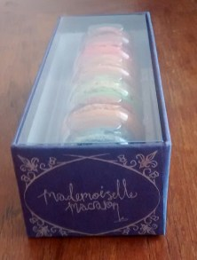 Mademoiselle Macaron box from front side view