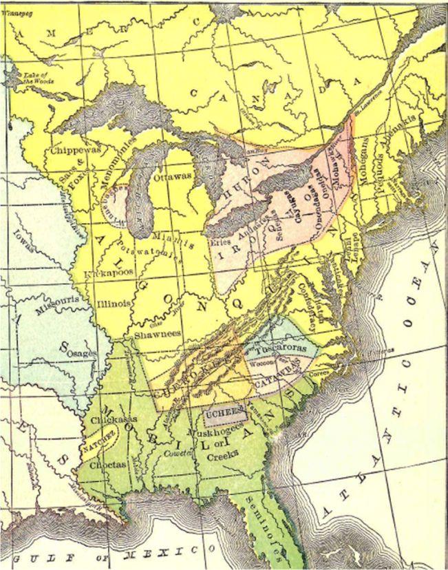 Indian Tribes Kentucky Map : indian, tribes, kentucky, FrenchandIndianWar.info, History, French, Indian, 1754-1763