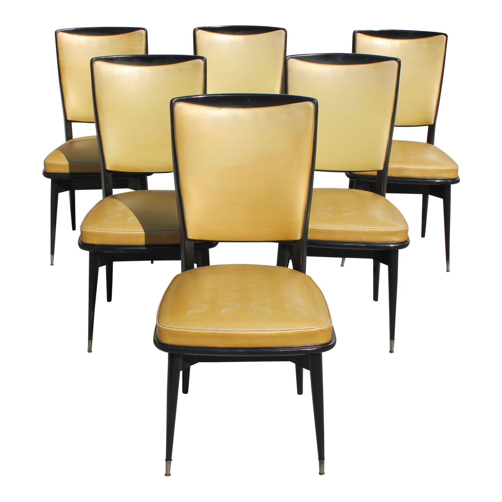 Art Deco Dining Chairs 1940s Vintage French Art Deco Solid Mahogany Dining Chairs Set Of 6