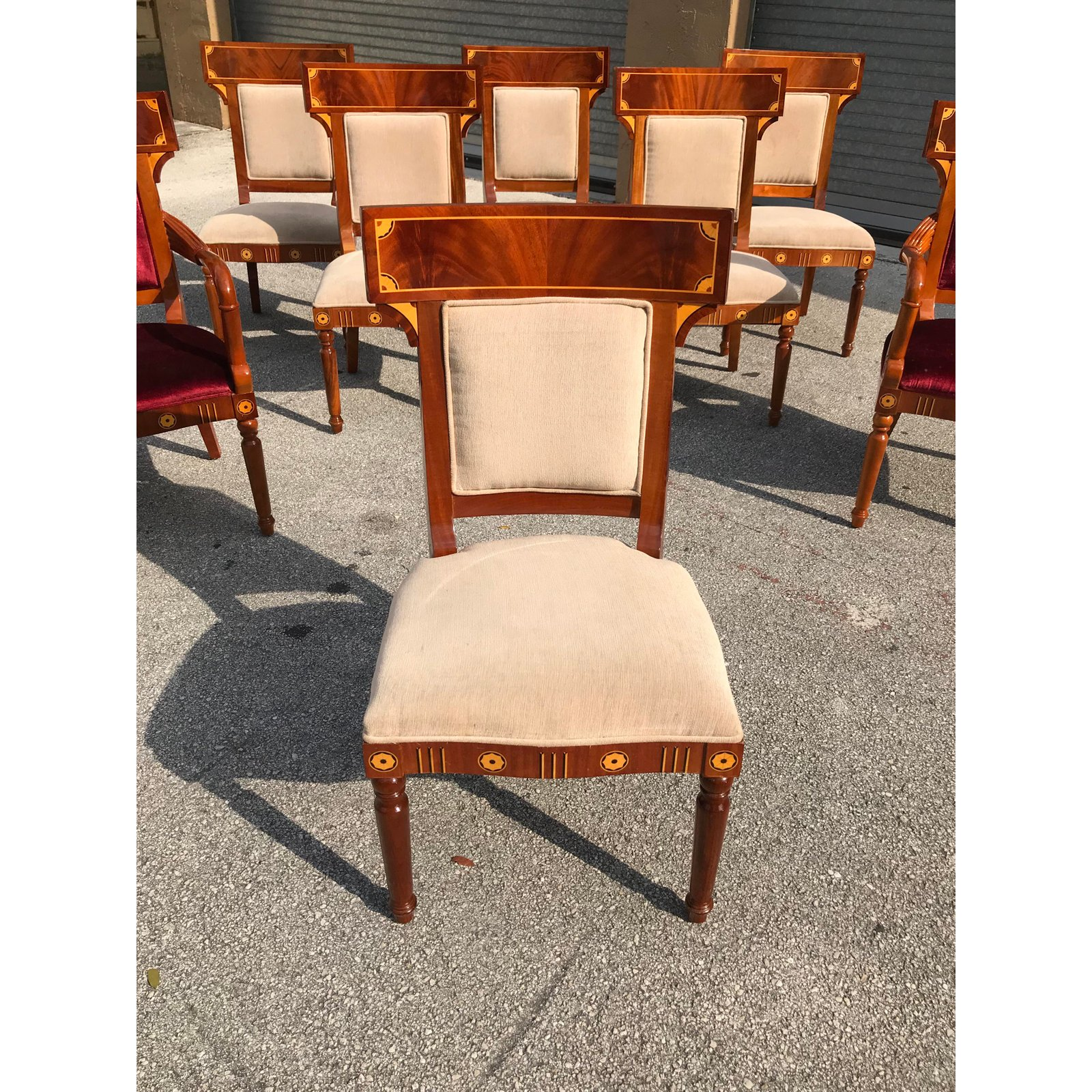 Beautiful Chairs Beautiful Set Of 8 Biedermeier Style Flame Mahogany Dining Chairs 1910s