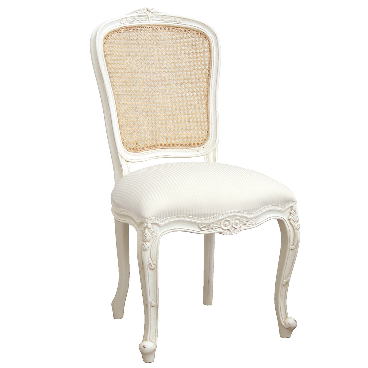 French Chairs Provencal White Rattan French Chair French Bedroom Company