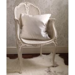 White Bedroom Chair Short Gym Couleur Provencal Rattan French Company