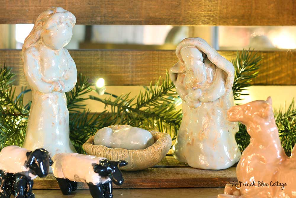 Ceramic nativity set made by my children.