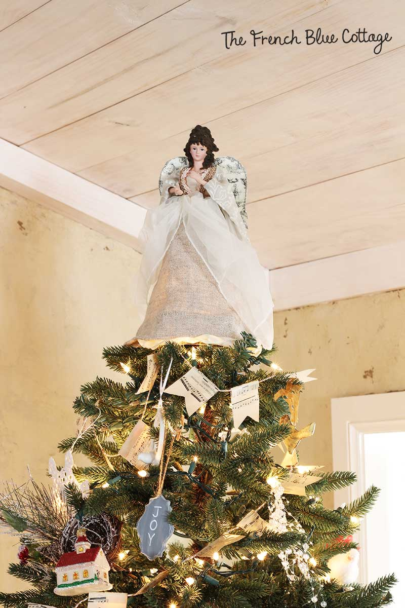 French country Christmas tree topper.