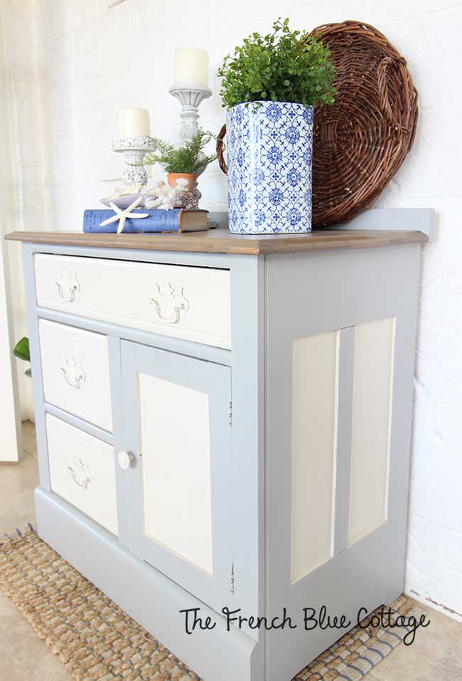 Beauty two toned washstand finish.